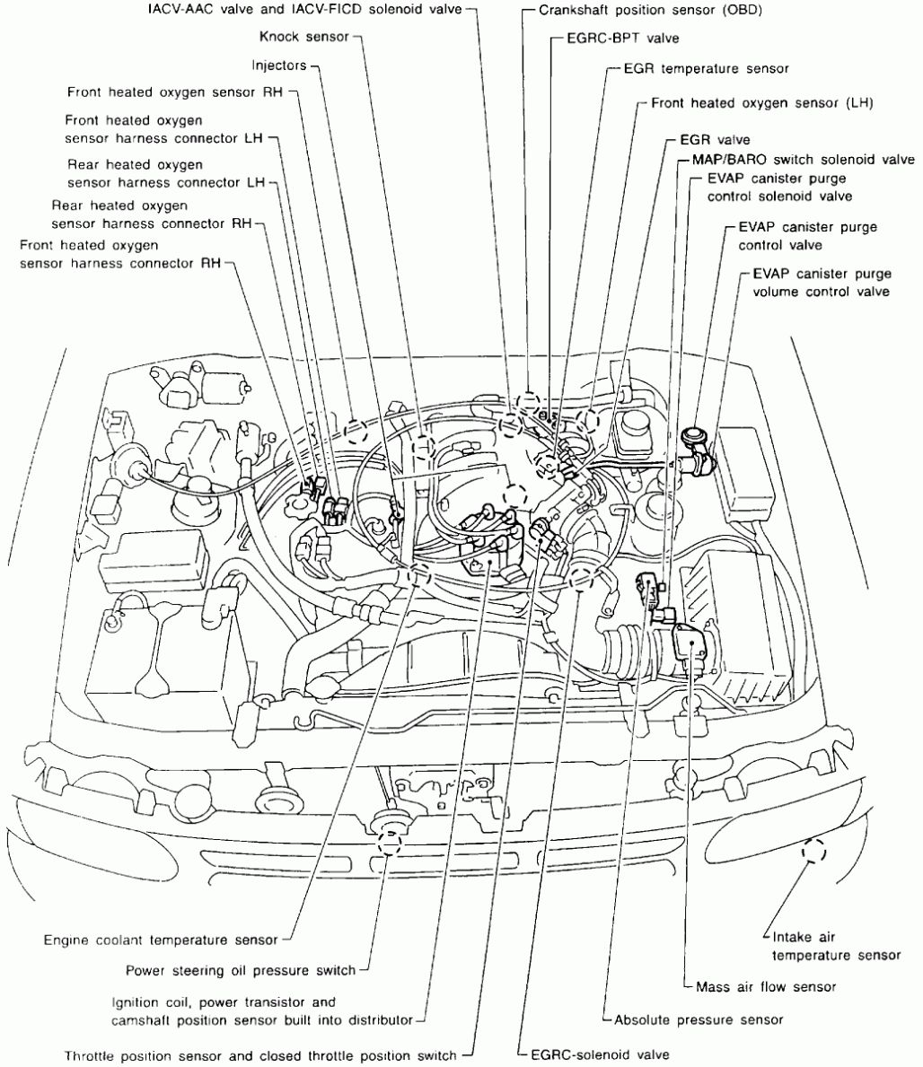nissan engine diagram wiring diagrams tar 1997 Nissan