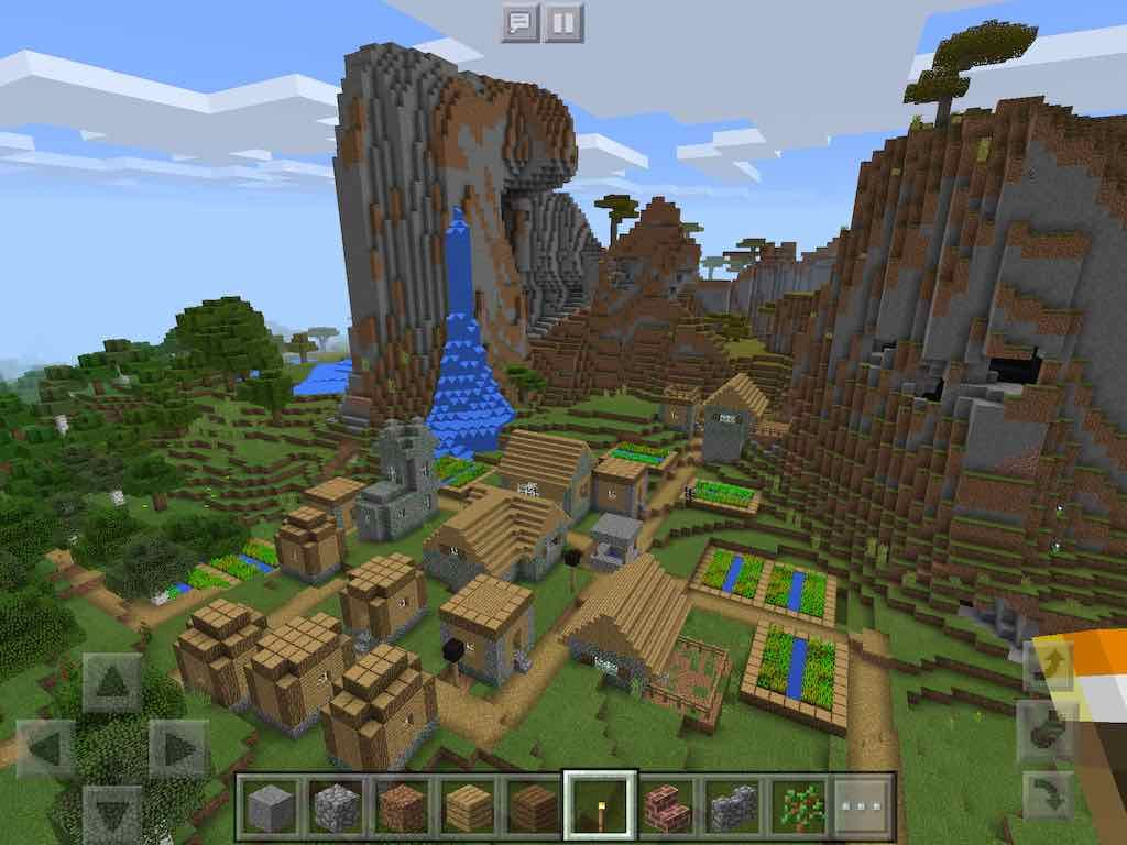 Check out this abandoned village seed for Minecraft PE The zombie