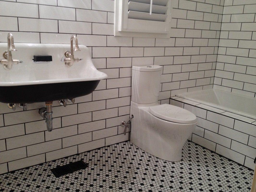 Robot Check Tile Bathroom Subway Tiles Bathroom White Subway Tile Bathroom