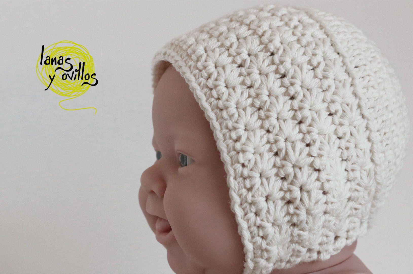 GORRO VINTAGE BEBÉ | Lanas y ovillos | Crochet | Pinterest ...