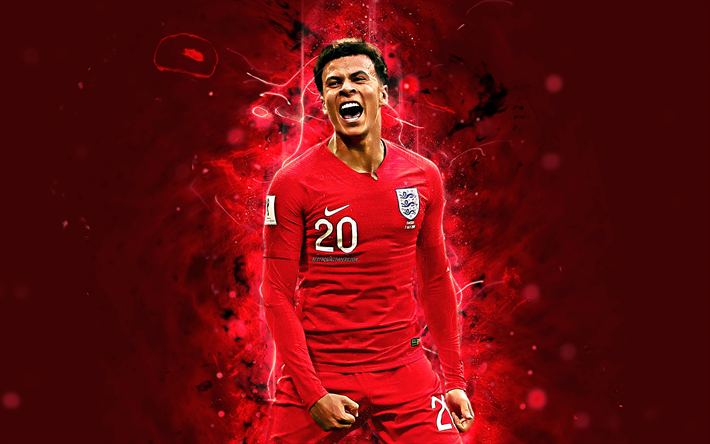 Download Wallpapers Dele Alli, 4k, Abstract Art, England