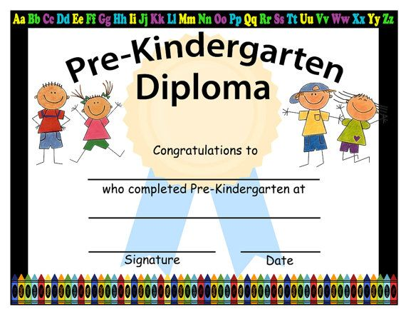 photo regarding Pre Kindergarten Diploma Printable identify Pre-Kindergarten Commencement Diplomas, Blank Commencement