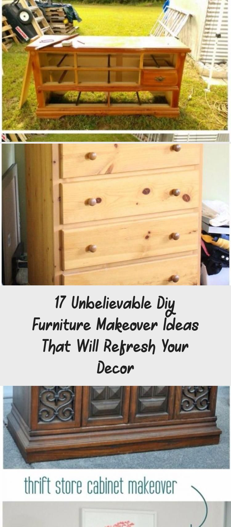 17 Unbelievable Diy Furniture Makeover Ideas That Will Refresh Your Decor - Pinokyo -  17 Unbelievable DIY Furniture Makeover Ideas That Will Refresh Your Decor #HomeDecorDIYRecycle  - #decor #DIY #Furniture #Ideas #Makeover #Pinokyo #Refresh #Thriftedhomedecorapartmenttherapy #Thriftedhomedecorbedrooms #Thriftedhomedecorbeforeandafter #Thriftedhomedecorboho #Thriftedhomedecordiyideas #Thriftedhomedecorfleamarkets #Thriftedhomedecorfurnituremakeover #Thriftedhomedecorhouseholditems #Thriftedhom