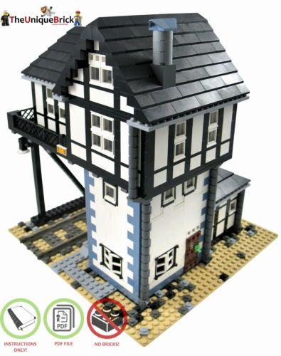 details zu eisenbahn stellwerk pdf bauanleitung f r lego steine 71006 10244 71016 lego. Black Bedroom Furniture Sets. Home Design Ideas
