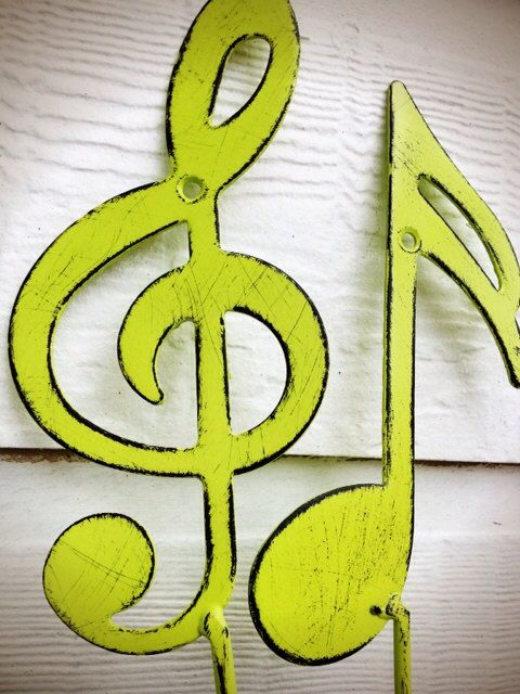 Kids Room Storage Wall Hooks / Music Note and Treble Clef Wall Art ...