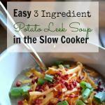 Easy 3 Ingredient Potato Leek Soup in the Slow ...