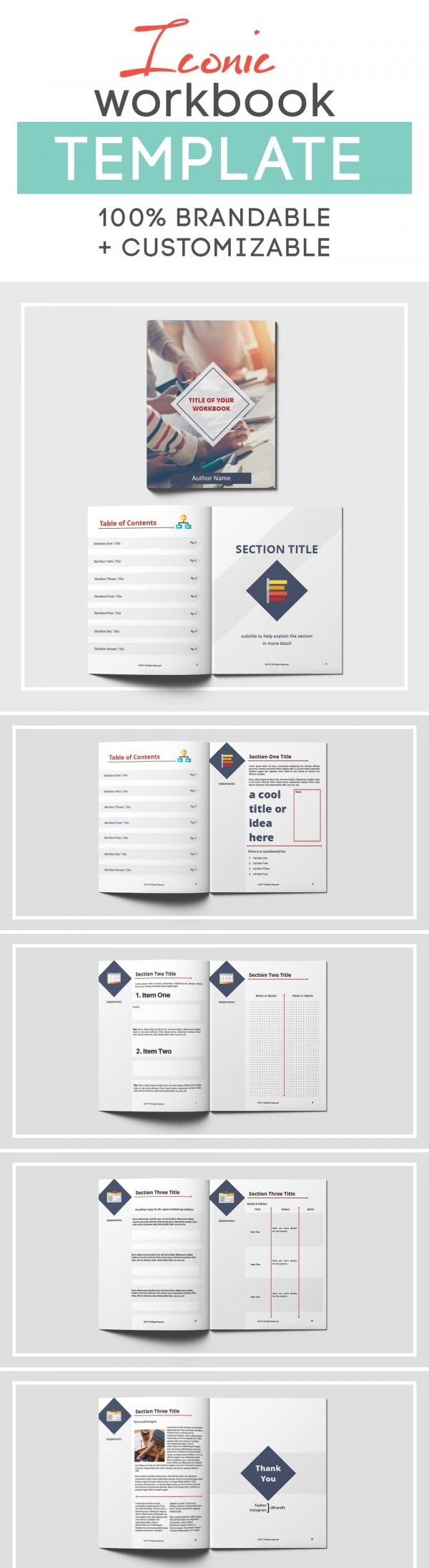 iconic workbook template if you are looking for a sleek clean and