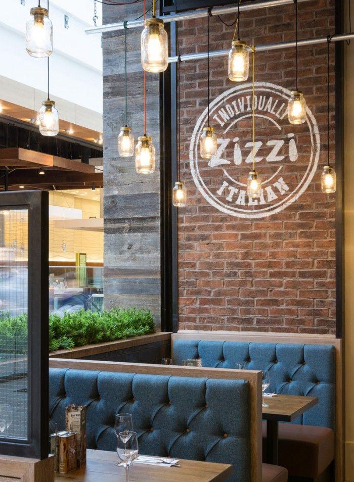 Zizzi italian restaurant branding interior restaurants