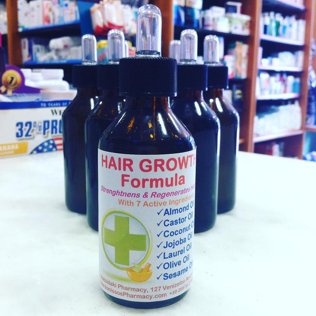 Try our Hair Growth Formula with 7 active ingredients! A natural way to strengthen and regenerate your hair! Ask in store for details: HersonissosPharmacy.com  #Hair #HairLoss #HairGroghth #AlmondOil #CastorOil #CoconutOil #JojobaOil #LaurelOil #OliveOil #SesameOil #Rogaine #Priorin #Minoxidil #HersonissosPharmacy #Pharmacy #Crete #Greece #Hersonissos #Chersonissos #drugstore #pharmacist #apotheke #farmacia #apteka #healthcare #аптека #Херсониссос #Крит #Греция #Χερσόνησος