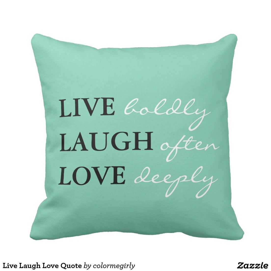 Live laugh love quote throw pillow pillows room decor and throw