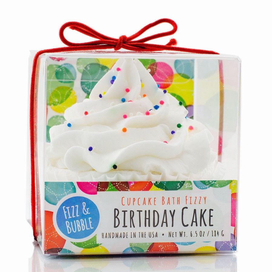 Birthday cake bubble bath cupcake cupcake bath fizz