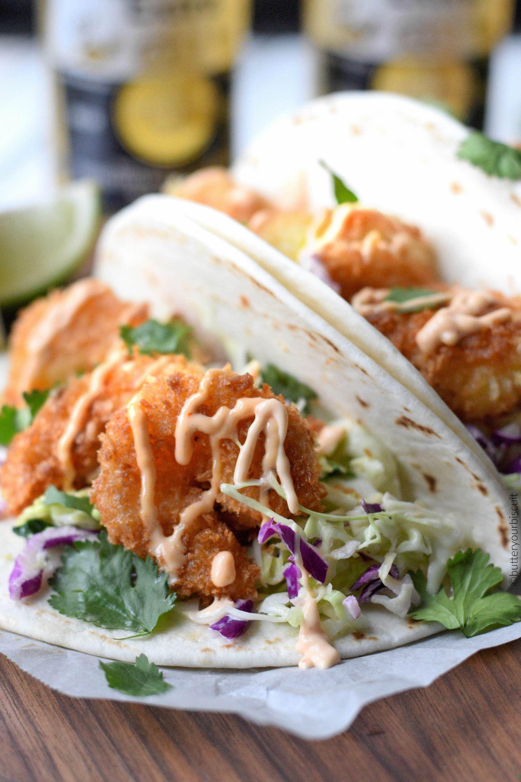 Crispy Shrimp Tacos #cilantrolimeslaw