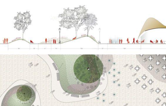 Team Delva-16-©-DELVA-Landscape-Architects-Urbanism-Powerhouse-Amvest-Synchroon-KJ-Plein-Centraal-station-Den-Haag-Koekamp-Park-Entree_Snede-Paviljoen-en-Parkheuvels