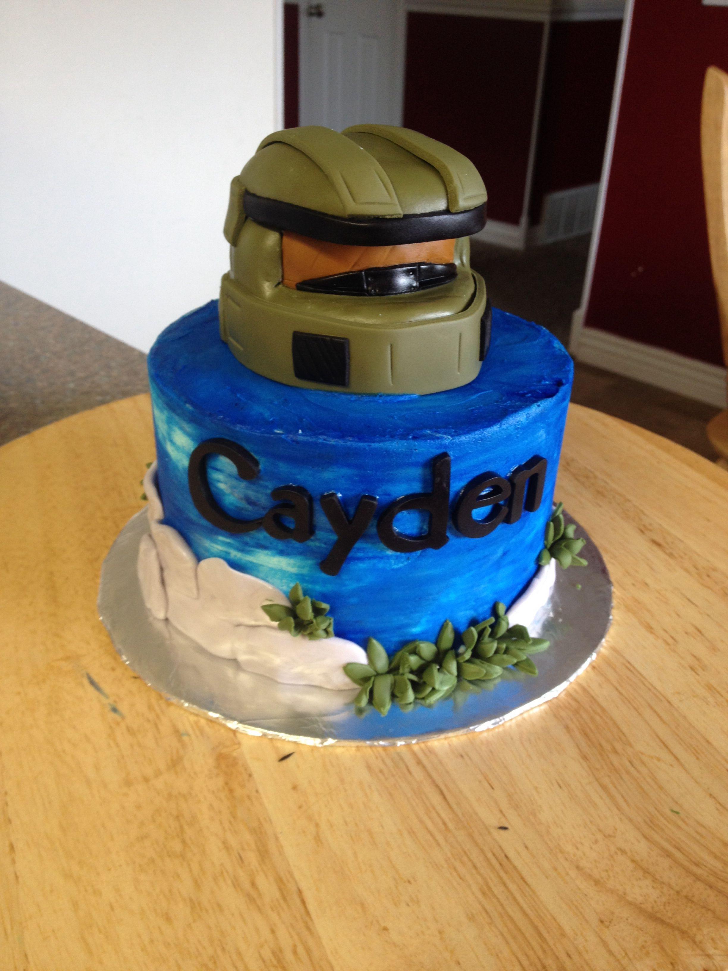 Halo cake cool cake designs my birthday cake halo cake