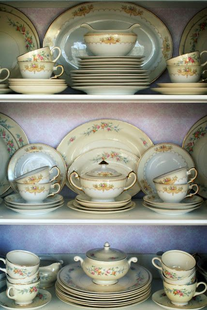 A Little Loveliness: China Cabinet Before & After