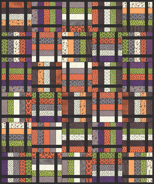 Free Quilt Patterns Moda Fabrics : Spooky Tales - Free Quilt Pattern - Jelly Roll - Halloween - October - Moda Fabrics - Spooky ...