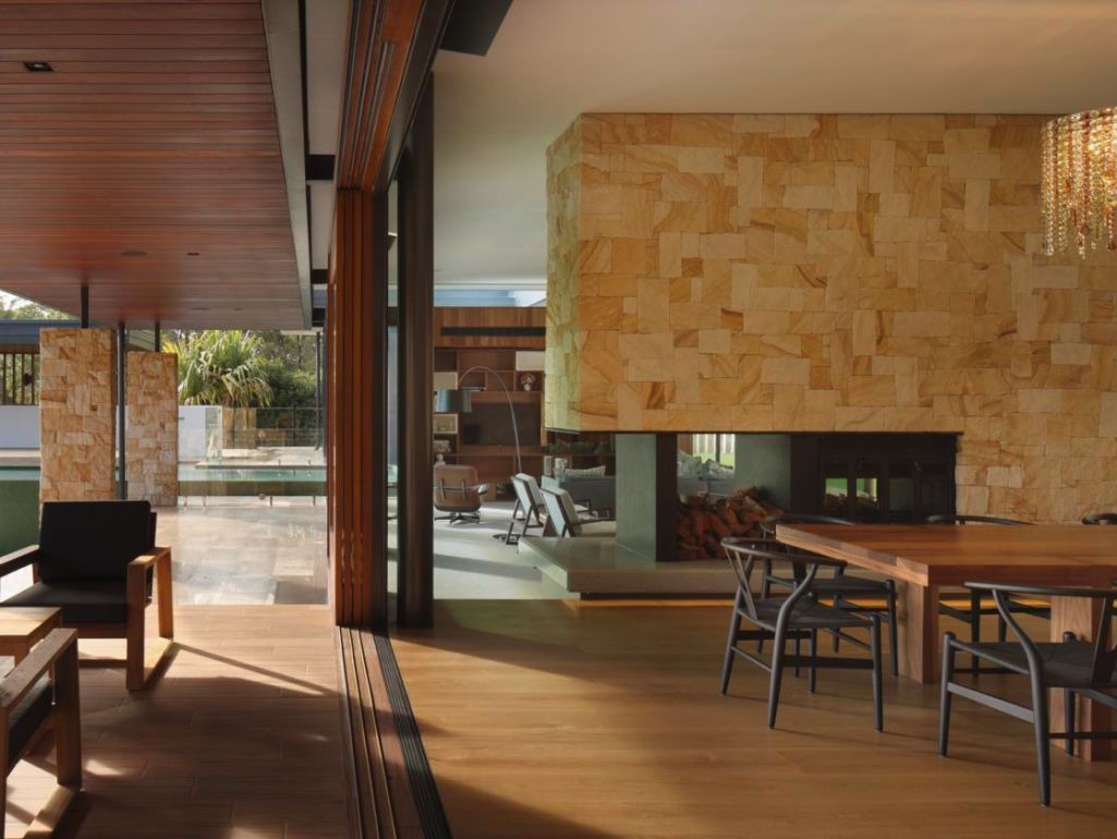 Eco outdoor killcare random ashlar sandstone walling used as eco outdoor killcare random ashlar sandstone walling fireplace and external columns design by blueprint architects install by mcd construction malvernweather Gallery