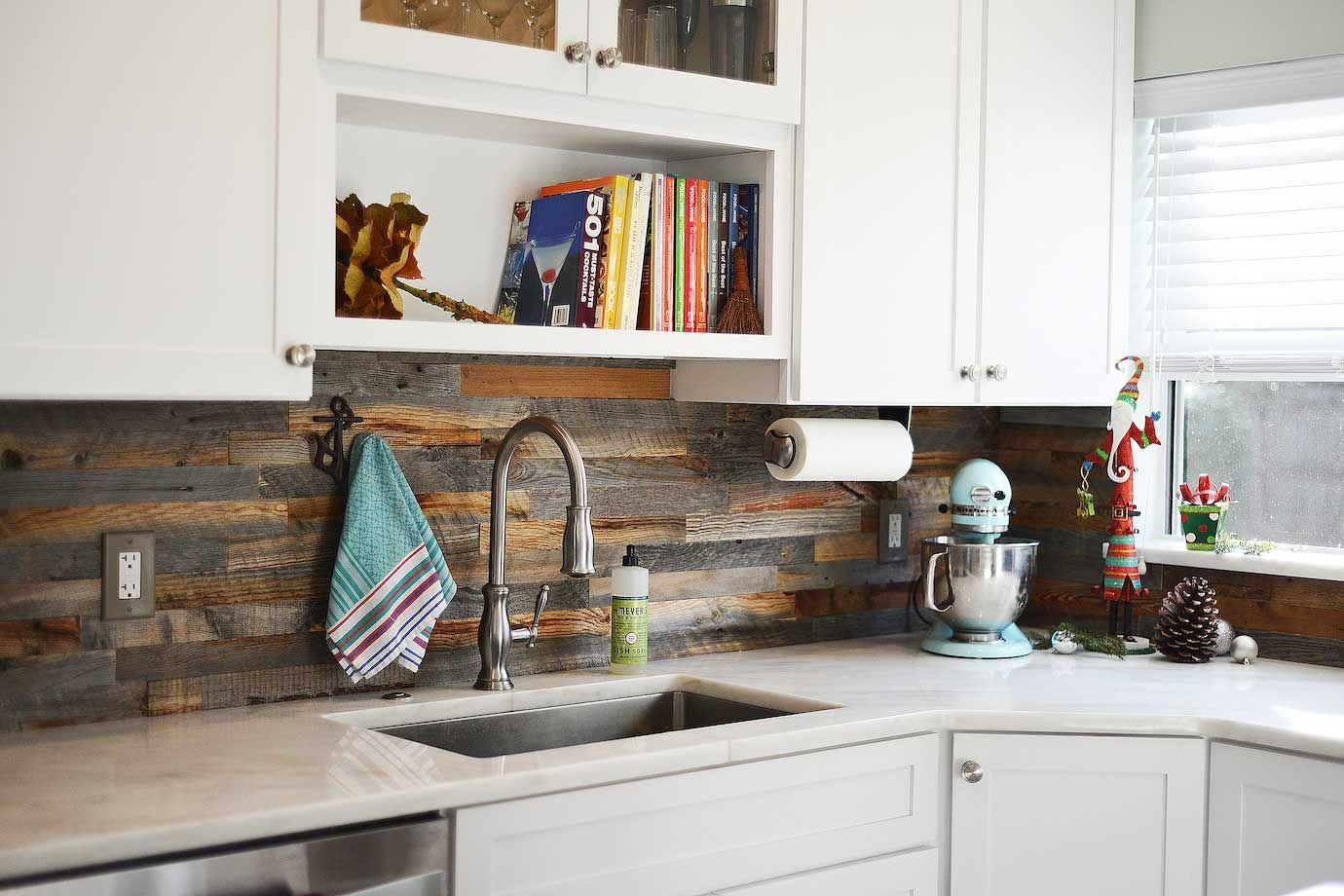Stunning Wood Backsplash Ideas Yentua Com Wood Kitchen Backsplash Reclaimed Wood Kitchen Backsplash Kitchen White Cabinets