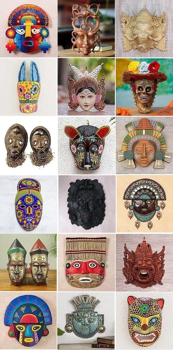 Choose a Handmade Cultural Wall Mask for Your Home from NOVICA World Artisans Collection. affiliate promo. The Masks are made in Indonesia, Central America, Mexico, Andes, West Africa, Brazil and Thailand. Find your favorite and BUY IT NOW! #handmade #masks #decor #fairtrade #wallart #homedecor #handmadecrafts #traditional #art #artsandcrafts #home #traditionalcrafts #artisan #artisancrafts #tribal #culture #culturalcrafts #homedecorideas #gifts #crafts #interiordesign