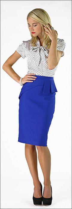 Side Peplum Skirt (BACK ORDER TILL 11/15/13) [MSF3493] - $39.99 : Mikarose Fashion, Reinventing Modest Fashion #mikarosewish @mikarose25