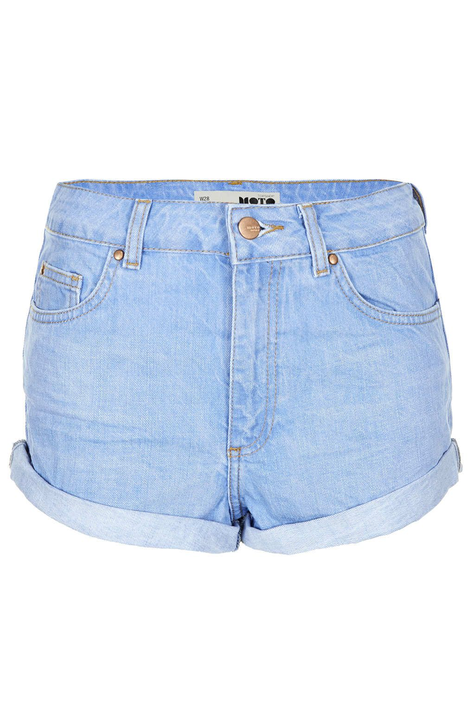 fb5b0b5d2 MOTO Blue High Waisted Hotpant. Topshop. Light Blue. £28   Spring ...