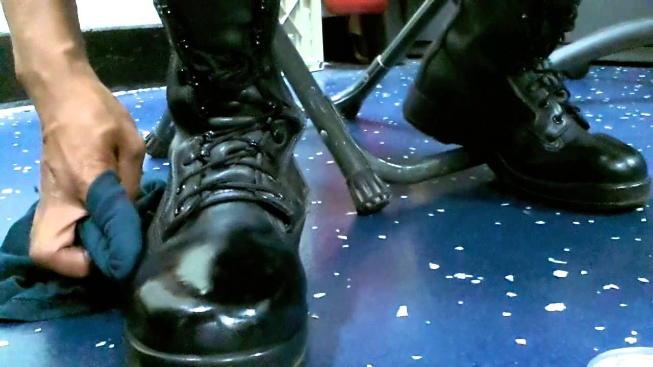 How to spit shine polish military boots military