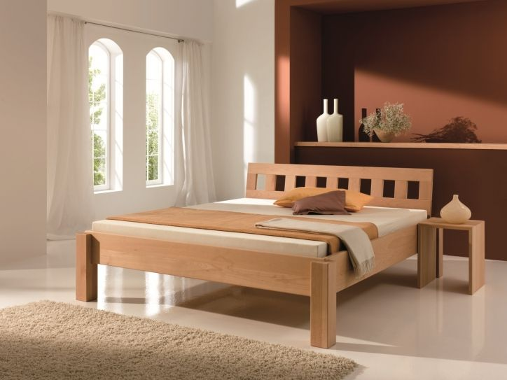 Massivholzbett  Massivholzbett QUADER - modern wood bed designs | cama | Pinterest ...