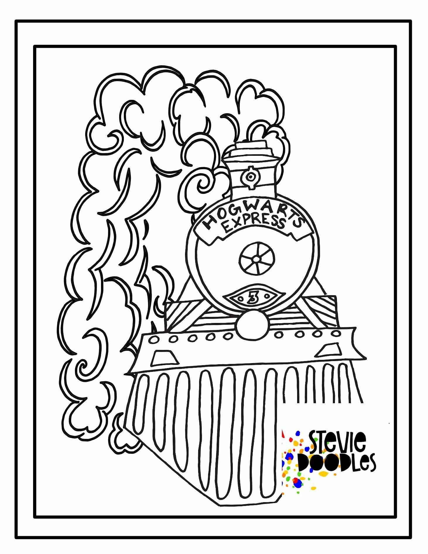Hogwarts Express Free Coloring Pages Stevie Doodles Free Coloring Pages Harry Potter Coloring Pages Coloring Pages