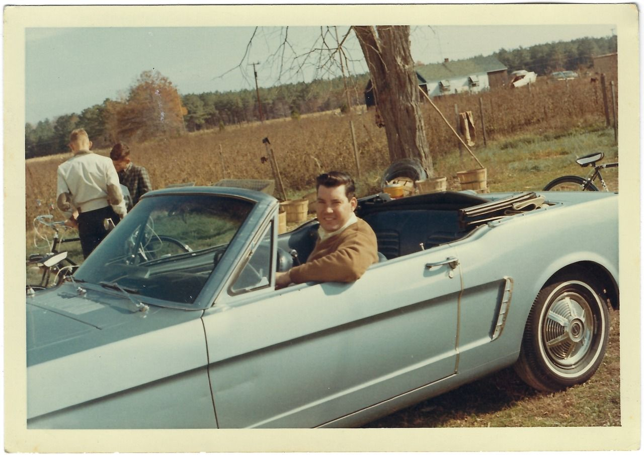Everyday Life In The Past Markonpark Man Posed In Blue 1965 Mustang In 2020 1965 Mustang Convertible Mustang Convertible 1965 Mustang
