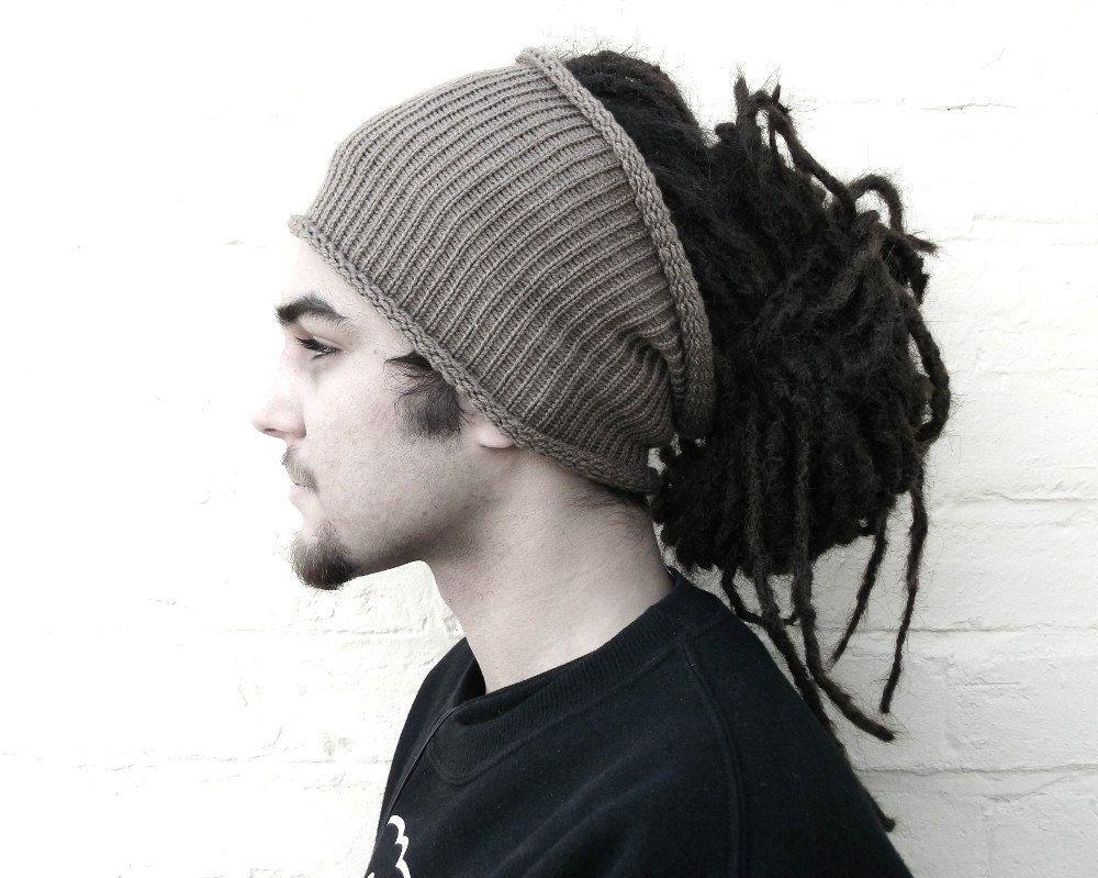 mens dreadlock tube hat plain hair wrap dread band by missbelluk