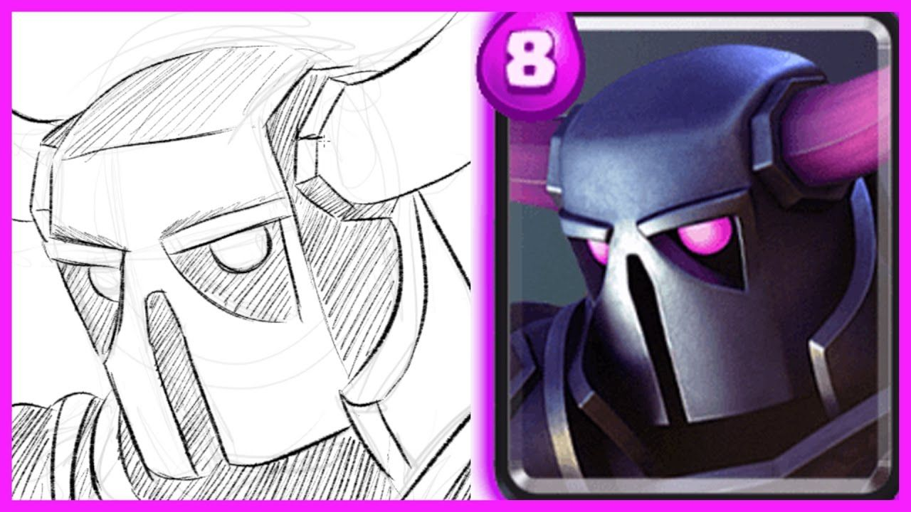 HOW TO DRAW PEKKA FROM CLASH ROYALE