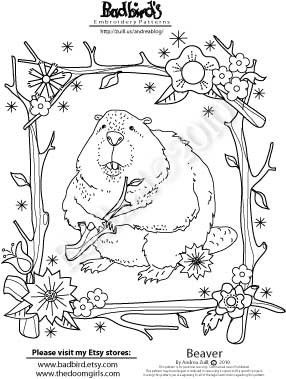 Beaver Embroidery Pattern Embroidery Patterns Embroidery Hand