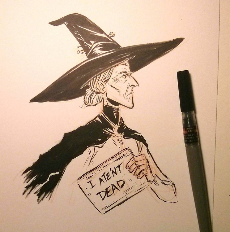 Equal Rites - Granny Weatherwax and Esk by theGrayStray