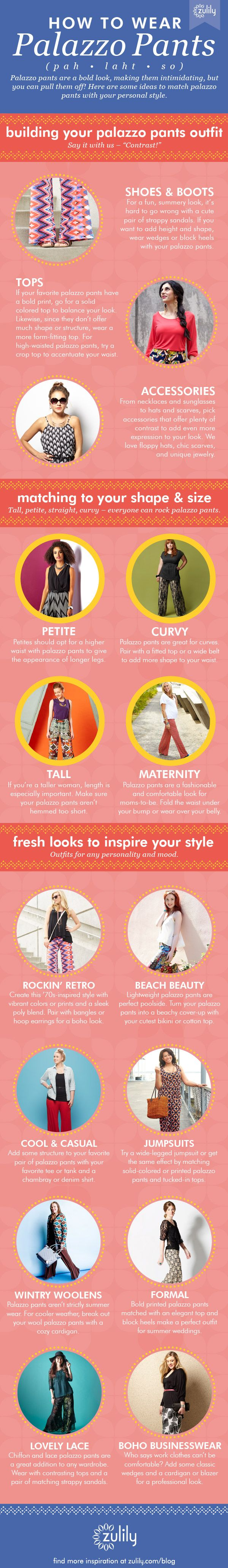 How to Wear Palazzo Pants | Palazzo pants, Palazzo and Bald hairstyles