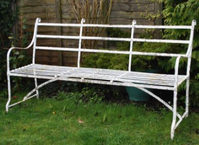 Awesome 3 Seater Wrought Iron Strapwork Games Bench Garden Benches Ibusinesslaw Wood Chair Design Ideas Ibusinesslaworg