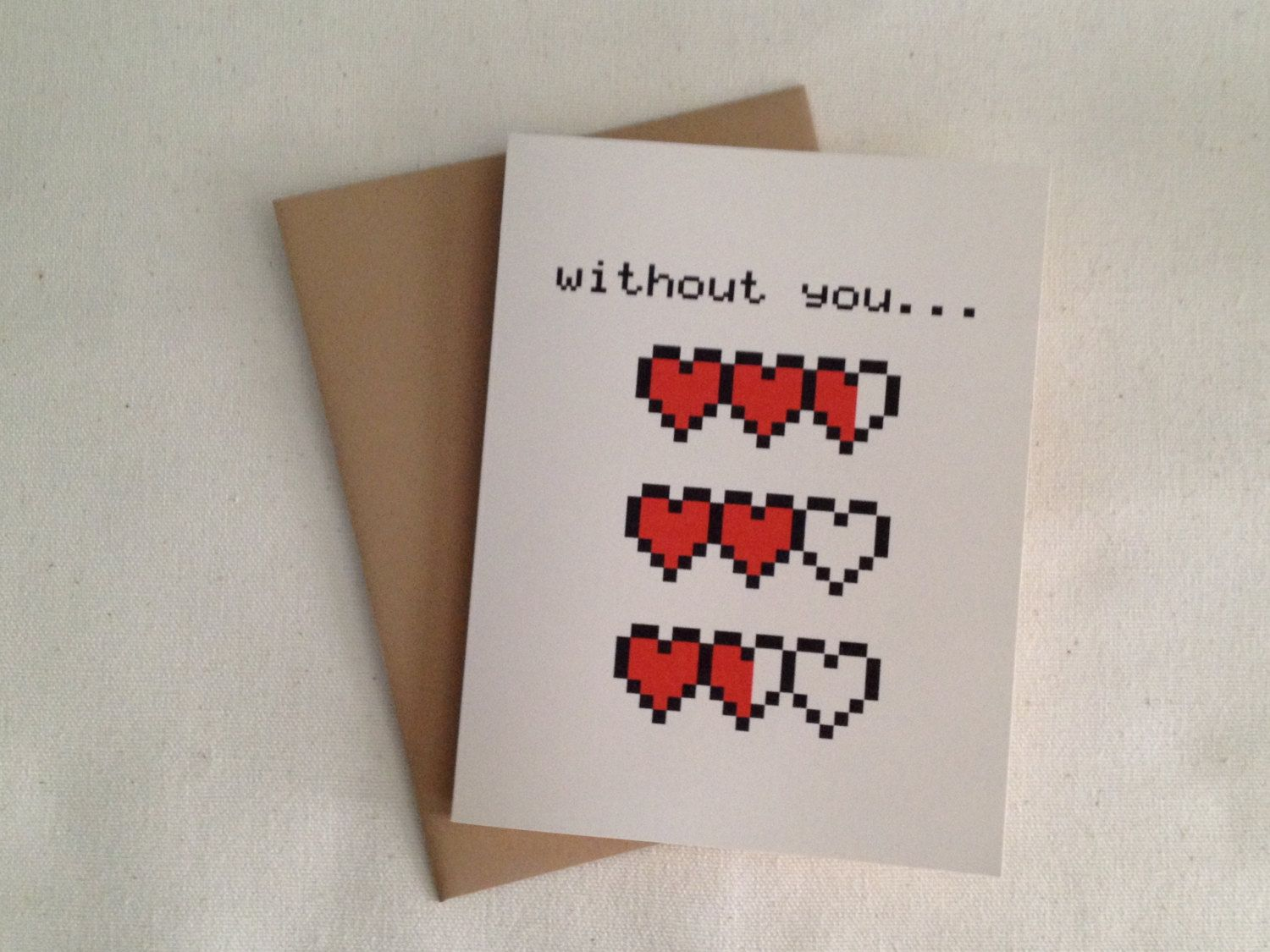 My Hearts Are Empty Love Card 3 50 Via Etsy Com Imagens