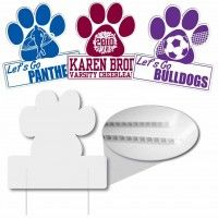 Paw Shaped Corrugated Plastic Sign Corrugated Plastic Signs Are The Solution To Your Inexpensive Sign N With Images Corrugated Plastic Signs Business Signs Campaign Signs