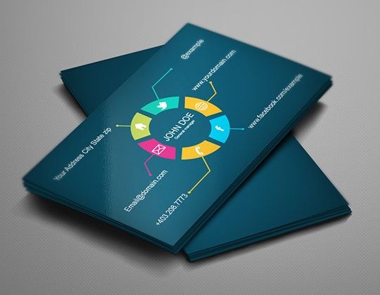 flat business card | Webgens Technologies | Pinterest | Best ...