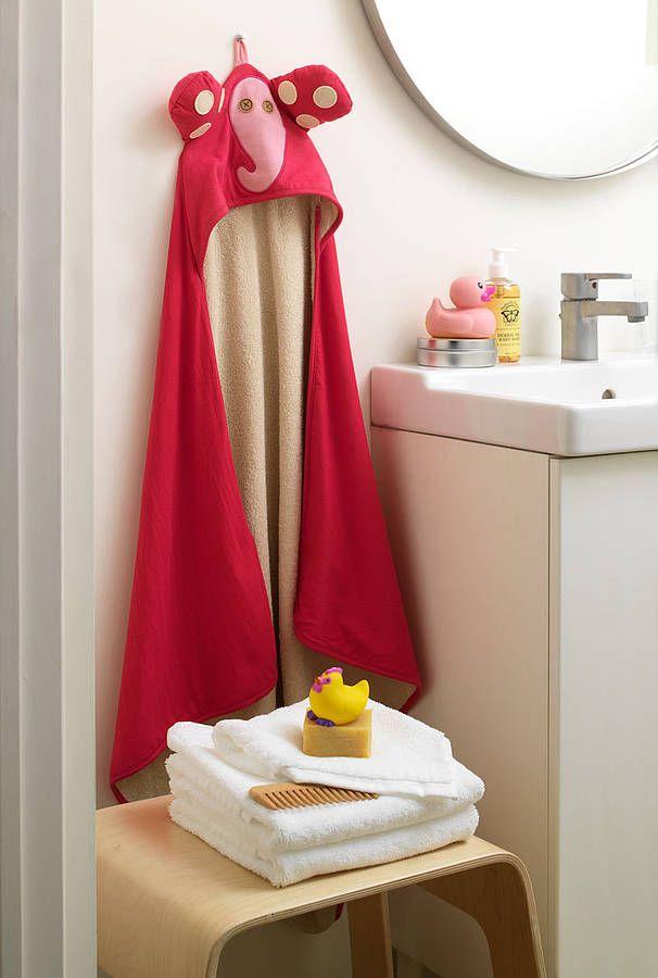 Elephant Baby Hooded Towel