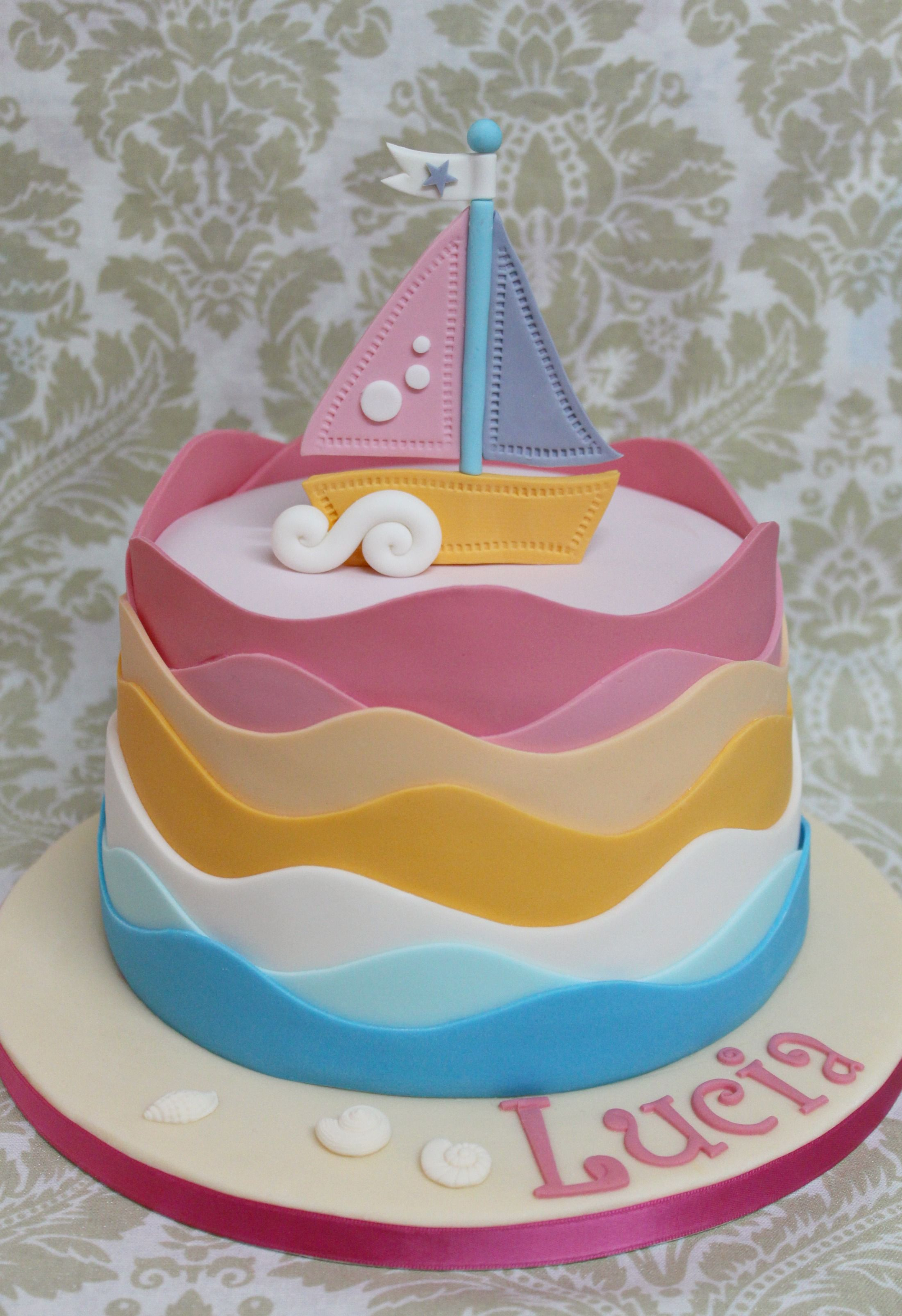 Sailboat cake Inspired by Charm city Cakes My sweets
