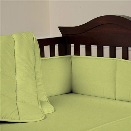 Solid Color Crib Bedding In Green Solid Light Lime Three Piece Crib Bedding Set Carousel Designs With Images Baby Crib Sets Crib Bedding Girl Boys Crib Bedding Sets