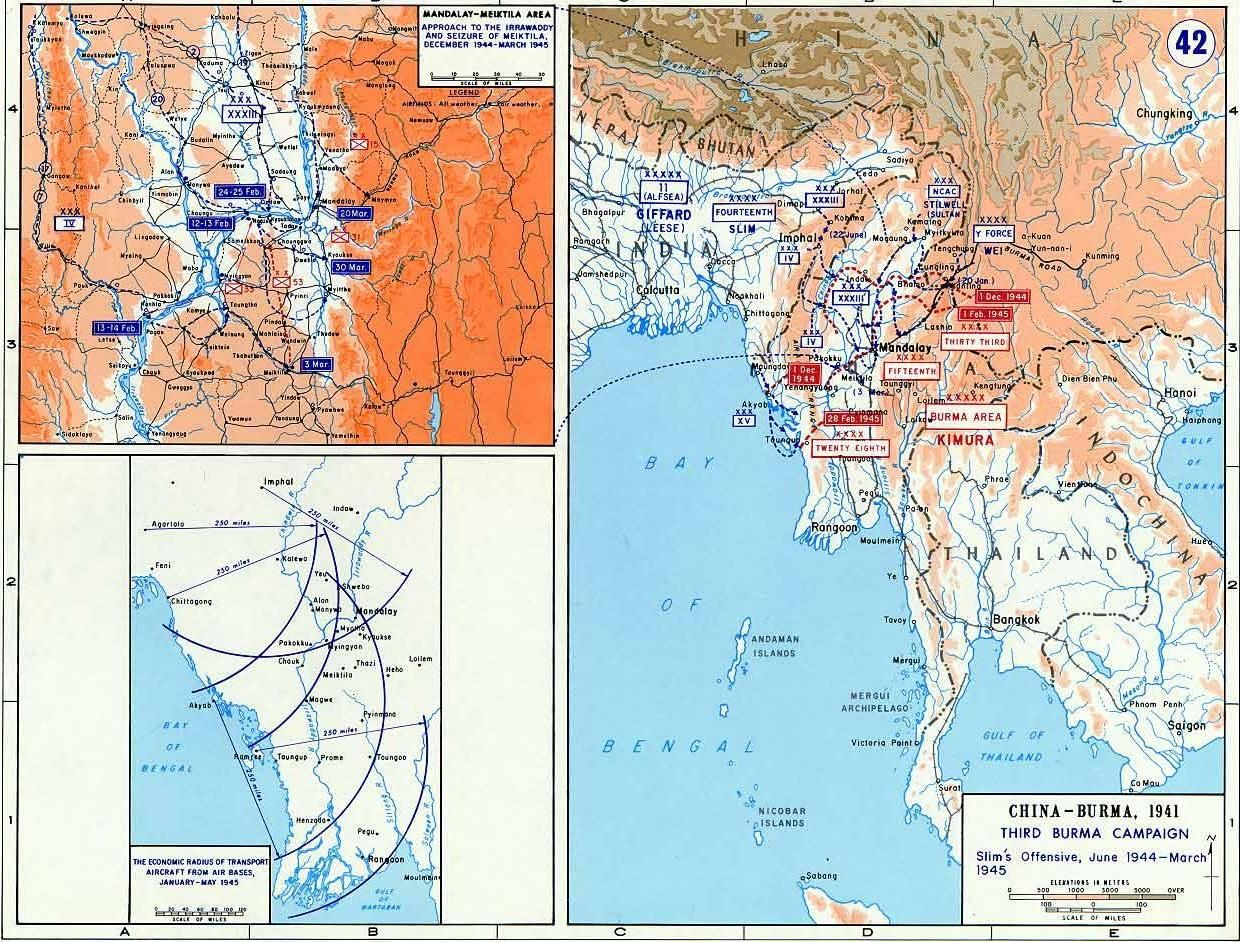 Russia Map After Ww2%0A Map depicting the British third campaign in Burma  Jun     Mar      http