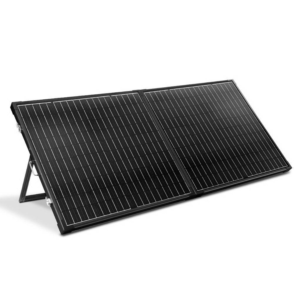 Solraiser 300w Folding Solar Panel Kit Regulator Black In 2020 Solar Panel Kits Renewable Solar Solar Panels