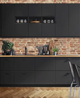 montage photos cuisine ikea recycl parquet brique plan de travail bois inspiration. Black Bedroom Furniture Sets. Home Design Ideas