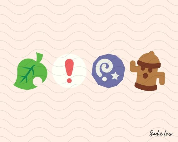 Animal Crossing Icons Fossil Pitfall Seed Gyroid Furniture