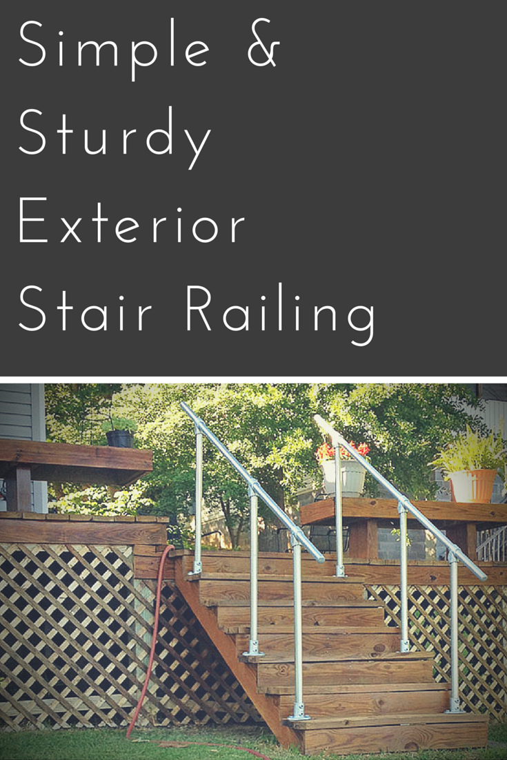 Best Simple Sturdy Exterior Stair Railing Keeklamp Handrail 640 x 480