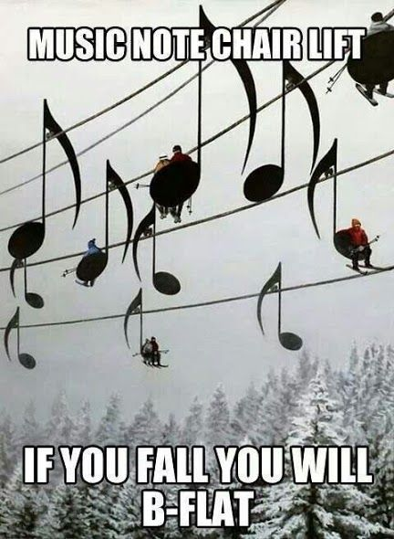 Funny pictures about Music note chair lift. Oh and cool pics about Music note chair lift. Also Music note chair lift. & Musical note ski lift. If You fall you will B-Flat LOL. #puns Funny ...