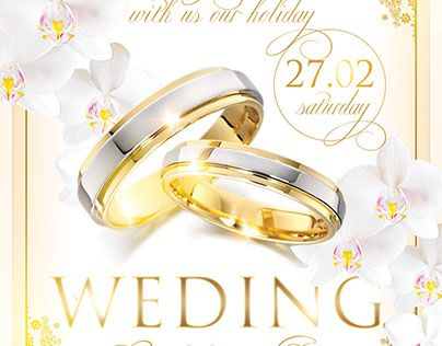 Check Out New Work Wedding Flyer Psd Template Event Party