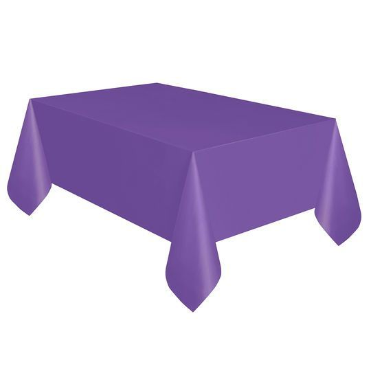Plastic Neon Purple Tablecloth 108 X 54 By Unique Michaels Purple Table Plastic Table Covers Purple Tablecloth