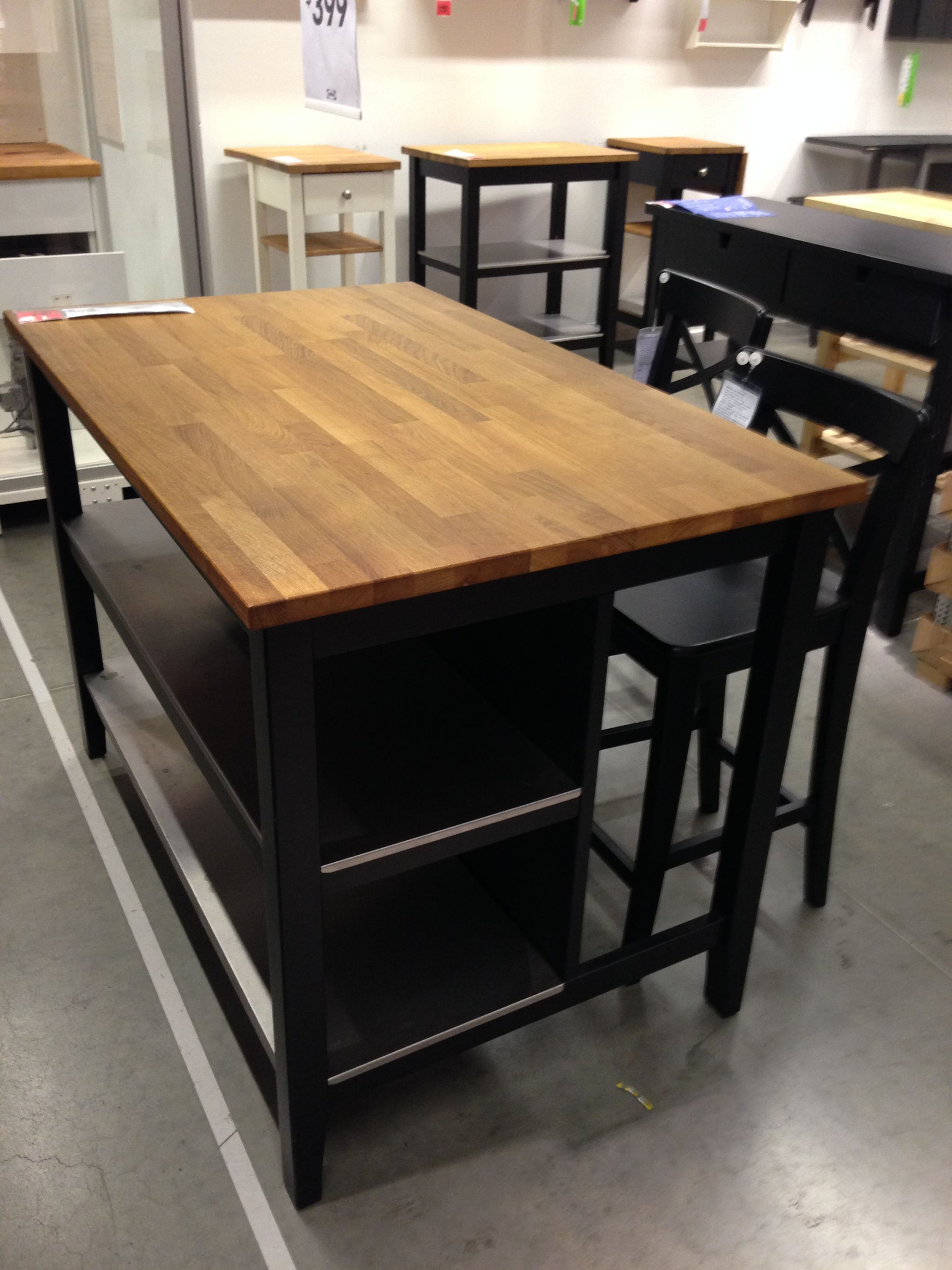 ikea stenstorp kitchen island dark oak front